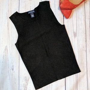 Ann Taylor LOFT black dressy tank top size S
